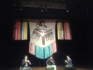 Da esquerda para a direita: Benjamin Seroussi (Casa do Povo), Antonio Andrade (Bolívia Cultural) e Oriana Jara (PAL)