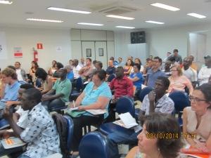 Imigrantes de diversas nacionalidades marcaram presença no evento. Crédito: Rodrigo Borges Delfim