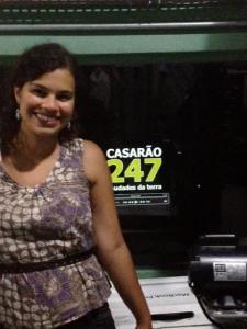Karina Gomes, no lançamento do documentário no Museu da Imagem e do Som, em São Paulo Crédito: Karina Gomes