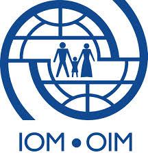 Logo da OIM (IOM, na sigla em inglês). Crédito: Reprodução