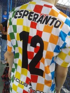 Camisa da seleção Esperanto para a Copa Gringos. Crédito: Rodrigo Borges Delfim