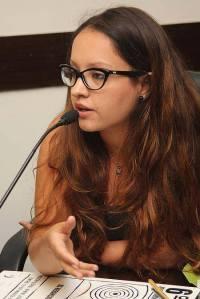 A jornalista Ana Carolina Neira, vencedora do 8ª Prêmio Santander Jovem Jornalista, com reportagem sobre a comunidade paraguaia em São Paulo. Crédito: Arquivo pessoal