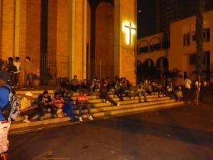 Imigrantes recém-chegados à Missão Paz, em São Paulo. Crédito: Missão Paz