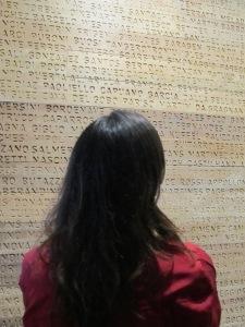Mostra tem um painel com milhares de sobrenomes de imigrantes que passaram pela Hospedaria. Crédito: Rodrigo Borges Delfim