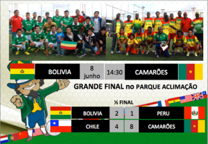 Depois de dois meses de competição, Bolívia e Camarões alcançam a final da primeira Copa Gringos. Crédito: Divulgação Copa Gringos
