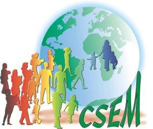 Logo do CSEM, autor do mapeamento das entidades envolvidas com a temática migratória. Crédito: Reprodução/CSEM