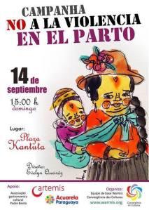 Evento convida mulheres migrantes e nativas a lutarem contra a violência obstétrica. Crédito: Evelyn Queiróz/Divulgação