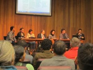 Mesa de abertura do lançamento do portal Cosmópolis. Crédito: Rodrigo Borges Delfim