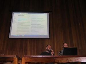 Fernando Bizarri e André Wiegmann apresentam funcionamento do portal. Crédito: Rodrigo Borges Delfim