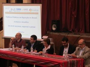 Seminário promovido pela Missão Paz, em São Paulo, debateu definição de políticas públicas que garantam os direitos dos migrantes e a governança das migrações no Brasil. Crédito: Rodrigo Borges Delfim
