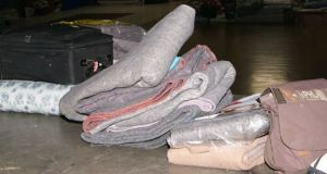 Cobertores cedidos pela Missão Paz a migrantes acolhidos pela instituição. Crédito: Missão Paz