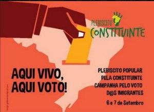 Campanha Aqui Vivo, Aqui Voto tem nova etapa neste fim de semana, nos dias 6 e 7/09