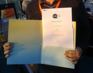 Certificado do The Bobs 2014, na categoria Favorito do Público em português. Crédito: arquivo pessoal