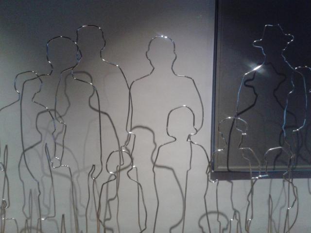 Escultura no Museu da Imigração, em São Paulo. Migrar é um direito humano, que precisa ser reconhecido como tal, não importa a origem, crença ou motivo. Crédito: Rodrigo Borges Delfim