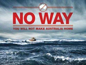 Anúncio do governo da Austrália que visa desencorajar a imigração indocumentada; ação é alvo de críticas dentro e fora do país. Crédito: Reprodução