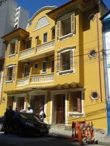 Prédio na rua Japurá, onde funciona o centro de acolhida. Crédito: Rodrigo Borges Delfim