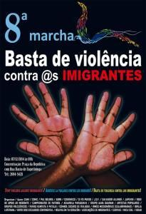 Marcha deste ano reivindica o fim da violência e da discriminação contra os imigrantes. Crédito: Divulgação