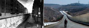 Comparação entre o Muro de Berlim e o muro entre Israel e os territórios palestinos: as barreiras continuam. Crédito: Reprodução/Palestina Libre