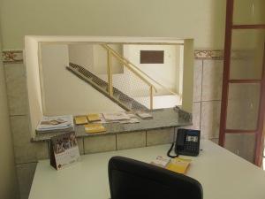 Vista da recepção do centro de acolhida, em funcionamento desde agosto. Crédito: Rodrigo Borges Delfim
