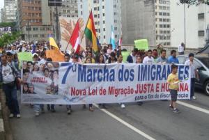 Em 2013, a Marcha teve a legislação migratória como tema principal. Crédito: Divulgação/Cami