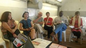 "Workshop virou ""mini WSFM"", com pessoas de 4 continentes. Crédito: Paulo Illes"