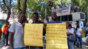 Malineses também aderiram à Marcha. Crédito: Lya Maeda