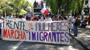 Bloco das Mulheres leva centenas à Marcha. Crédito: Lya Maeda