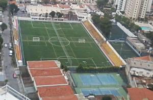 Vista aérea do Clube Lausanne, que receberá o Festival Copa Gringos. Crédito: Divulgação