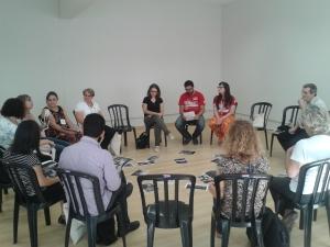 Wokshop sobre fotografia e imigração no último dia do seminário. Crédito: Rodrigo Borges Delfim