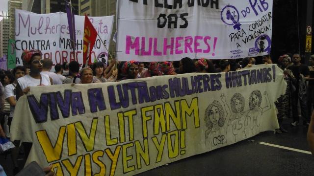 Mulheres de diferentes origens se uniram na luta pelos mesmos direitos. Crédito: Géssica Brandino