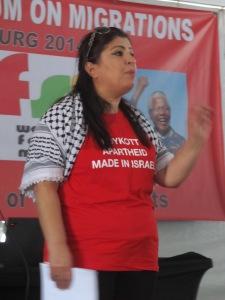 Fórum abriu espaço e deu destaque à situação palestina. Crédito: Rodrigo Borges Delfim