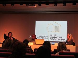 Musealização das antigas hospedarias foi tema da primeira mesa do seminário. Crédito: Rodrigo Borges Delfim