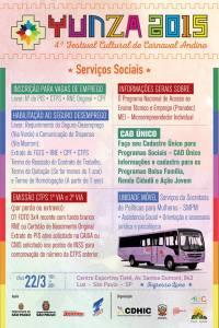 Serviços que estarão disponíveis na Yunza 2015. Crédito: Divulgação