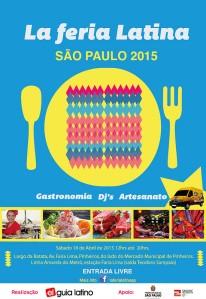 Cartaz de divulgação da La Feria Latina 2015. Crédito: Divulgação