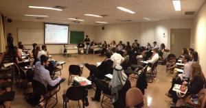 Migrações e trabalho decente foram debatidos pelo comitê da OIT no USPMUN. Crédito: Imprensa USPMUN