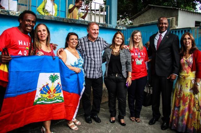 No Rio, homenagens aos haitianos tiveram a presença de Zico. Crédito: Haiti Aqui