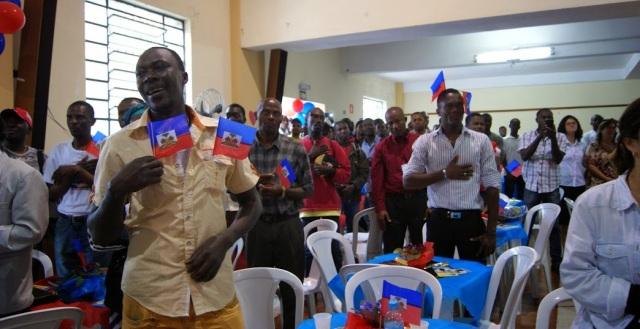Cerca de 800 haitianos estiveram na Missão Paz, em São Paulo, para a Festa da Bandeira. Crédito: Comunicação/Missão Paz