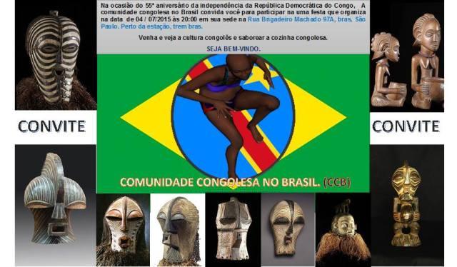 Comunidade congolesa em São Paulo vai celebrar a independência da terra natal. Crédito: Divulgação