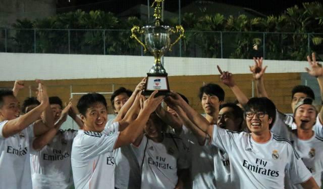 """""""Inspirados"""" pelo Real Madrid, coreanos ficaram com a Série Prata. Crédito: Festival Copa Gringos"""