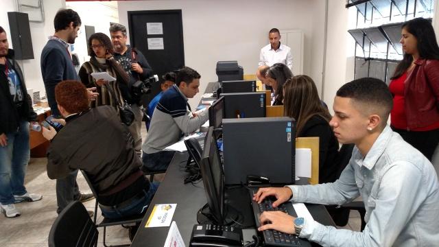 Feirão do Emprego é o primeiro de outros que estão previstos para o CIC do Imigrante. Crédito: Rodrigo Borges Delfim