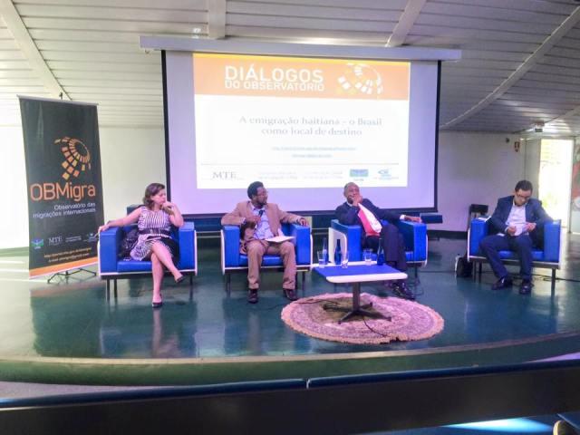 Vinda de haitianos para o Brasil foi tema da primeira aula dos Diálogos do Observatório. Crédito: Geórgia Lima