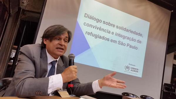 Andrés Ramirez, do ACNUR, destaca crescimento do Brasil como destino de refugiados. Crédito: ACNUR