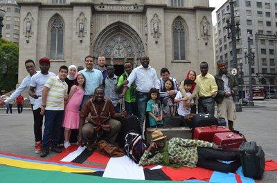 Refugiados residentes no Brasil participaram da Youth Initiative em São Paulo. Crédito: Luiz Fernando Godinho/ACNUR