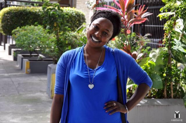 Mariama, de Gâmbia, que sonha em voltar a ser atriz. Crédito: Cáritas RJ