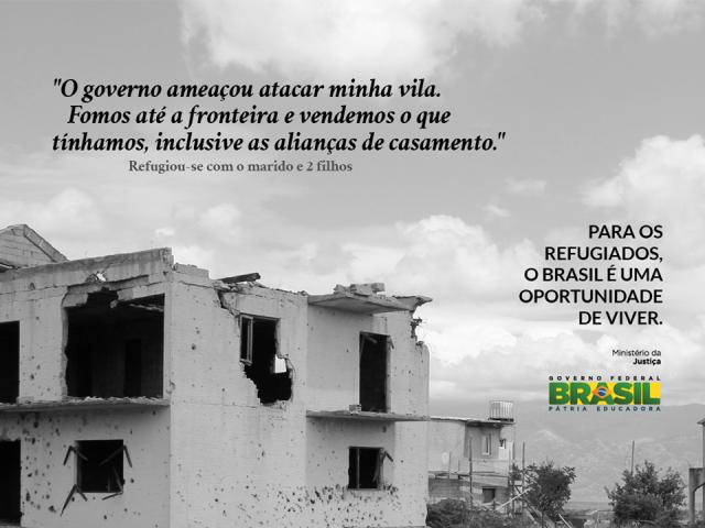 Imagens com depoimentos de refugiados integram campanha do Ministério da Justiça sobre refúgio. Crédito: Ministério da Justiça