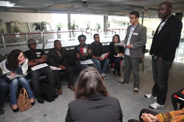 Migrantes tomaram parte e apresentaram demandas durante seminário em SC. Crédito: Camila Rodrigues da Silva
