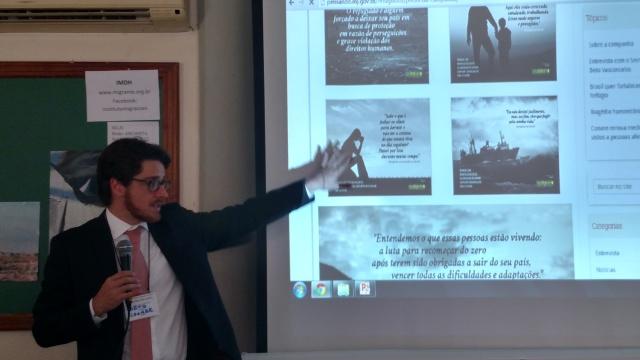 Beto Vasconcelos, secretário nacional de Justiça, durante o lançamento da nova fase da campanha. Crédito: Rodrigo Borges Delfim