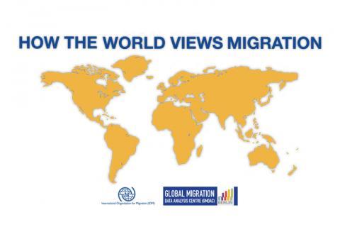 Novo estudo produzido pela OIM mostra como a população vê a migração mundo afora. Crédito: Reprodução/OIM