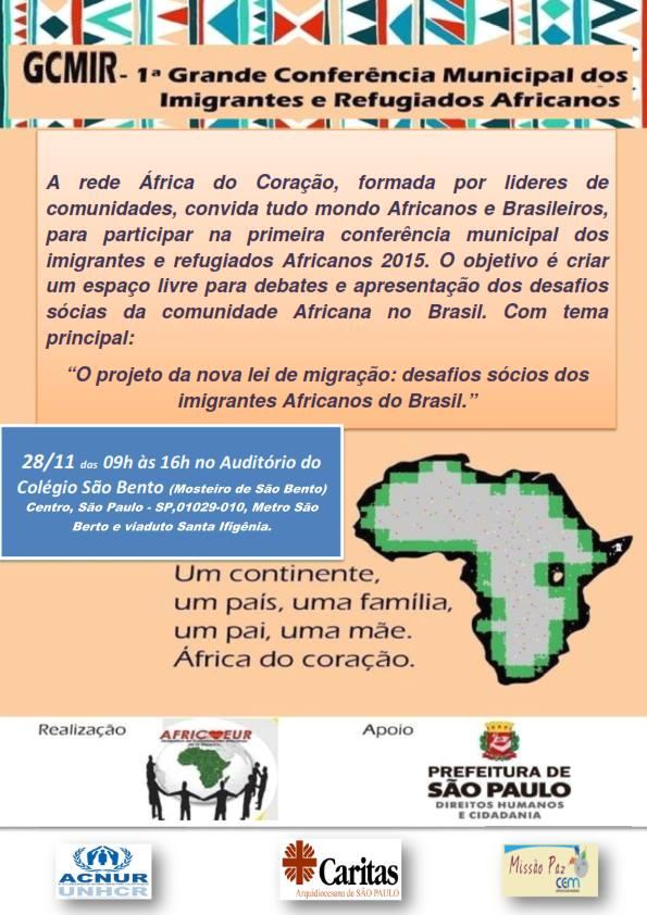 Cartaz de divulgação da Conferência. Crédito: Divulgação