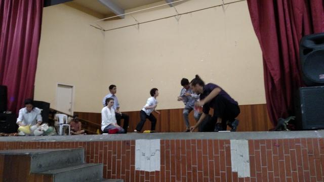 Seminário teve prévia de peça de teatro sobre migração. Espetáculo completo fica pronto em dezembro. Crédito: Rodrigo Borges Delfim/MigraMundo